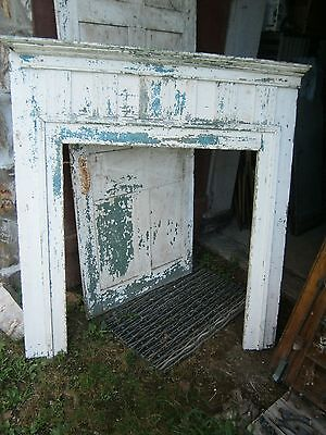 Original Federal Period Fire Place Mantle Architectural Salvaged Fireplace Wood