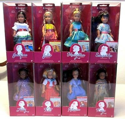 Set of 8 American Girl BeForever Mini Special Edition Dolls, 2016, NIB, Retired
