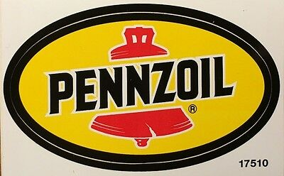 New PENNZOIL Oval Decal Racing NHRA Indy Car Formula 1 ( Man Cave / Truck )