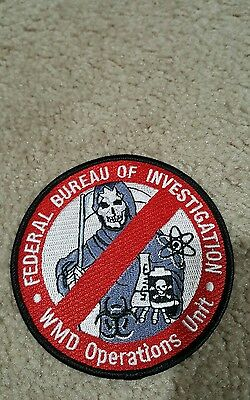 FBI (Weapons of Mass Destruction) Operations Unit Police patch (Authentic)!!!!