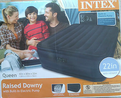 Intex Queen Raised Downy Airbed - Retail $88