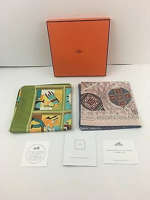 2 Hermes Paris  Scarves Brand New With Original Box And Papers
