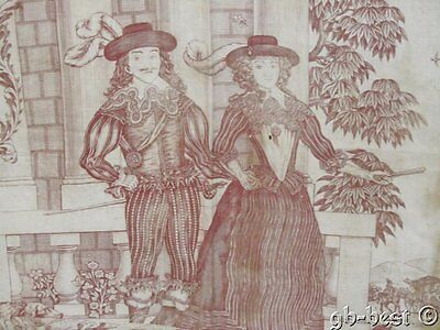 Important c 1795-1810 Toile Royalty Quilt Top Copperplate Printed EARLY