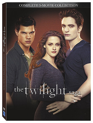 The Twilight Saga: Complete 5-Movie Collection (DVD, 2016, 2-Disc Set,...