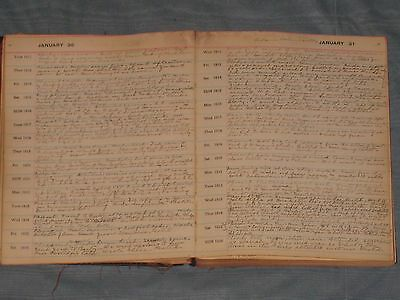 1912-26  15 Year Hand Written Daily Diary Part Of 40 Year Collection 1893-1933