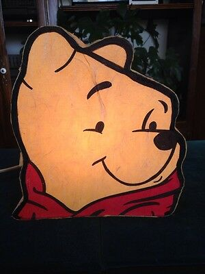 Winnie The Pooh Night Light Glowing Bear Head Kids Room Decor Light 9""