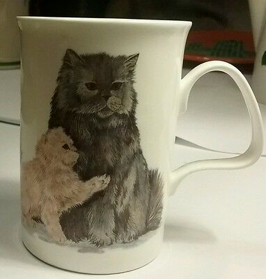 Roy Kirkham Cat Lovers Bone China Persian Cat 1989 Coffee Tea mug cup