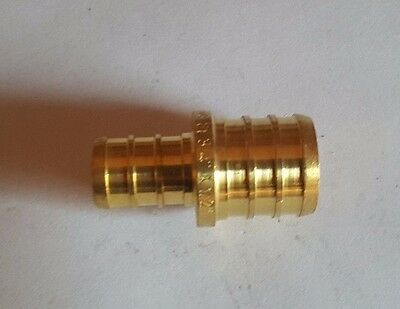 """25 Pieces 3/4"""" X 1/2"""" Pex Fitting Straight Reducing Coupling (Lead Free)"""