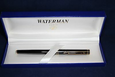 WATERMAN Executive  Slim Roller ball pen,Black GT,box New Old Stack, LOOK