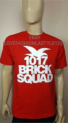 79e03690e BRICK SQUAD BLACK T-Shirt Tee Gucci Mane 1017 New Rap Tour T Shirt ...