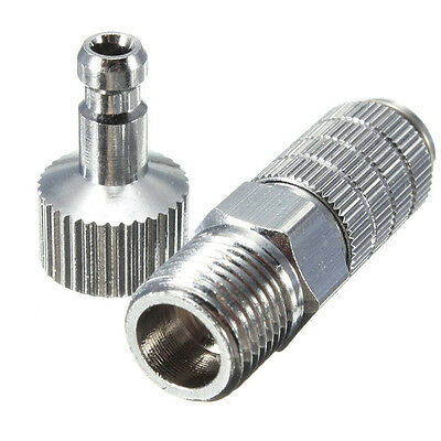 """Airbrush Quick Release Disconnect Coupler 1/8"""" QD Plug Adapter Fitting Air Hose"""