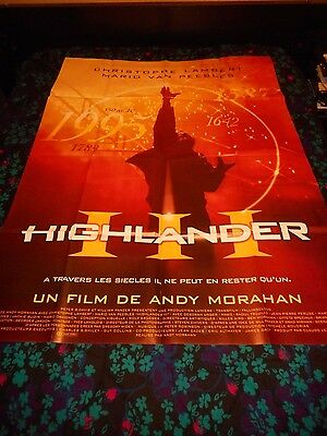 Highlander Iii: The Final Dimension - Original Large French Poster - 1994
