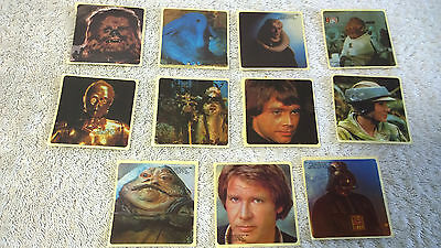 Star Wars Very Rare 11x New Zealand 1983 Kelloggs Cornflakes Stickers + Bonus