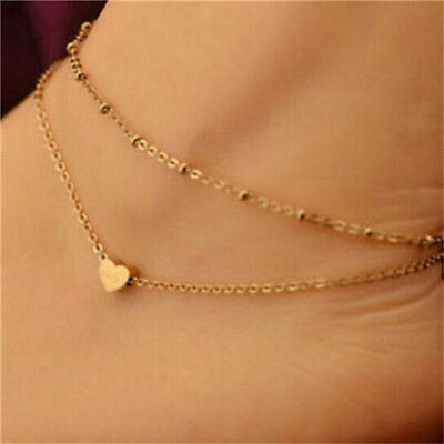 Women Gold Plated Ankle Chain Anklet Bracelet Foot Jewelry Sandal Beach
