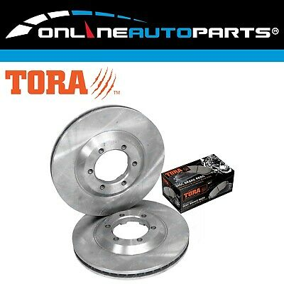 2 Front Disc Rotors + Brake Pads Holden RC Colorado Isuzu DMax 2008-2012 D-Max
