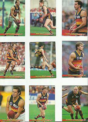 LoT OF 18 1994 AFL SELECT ADELAIDE 'THE CROWS' TRADING CARDS.