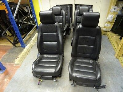 *vw Sharan Mk2 2011-On Complete Black Leather Interior Seats Door Cards