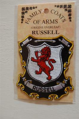 Russell Embroidered PATCH Coat of Arms Family Crest - Sew or Iron On