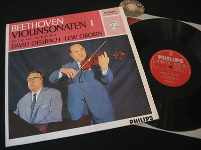 LP David Oistrach Lew Oborin Beethoven Violinsonaten I Philips Holland