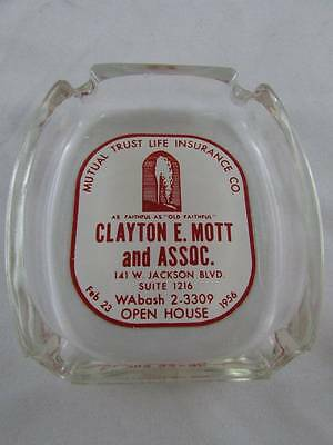 VTG Ashtray Dated 1956 Chicago Glass Ships Fast!