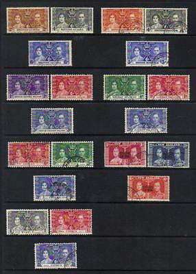 1937 Coronation Used Set Of 3