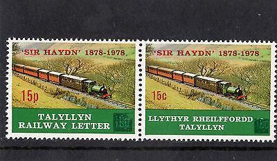 Railway Letter Stamps Talyllyn 1978 Centenary of Engine No 3 Sir Haydn