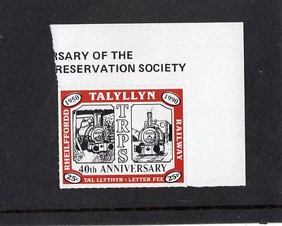 Railway Letter Stamps Talyllyn 1990 40th Anniversary