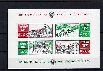 Railway Letter Stamps Talyllyn 1990 125th Anniversary M/S