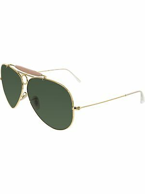 Ray-Ban Women's Shooter RB3138-001-62 Gold Aviator Sunglasses