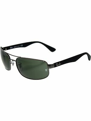 Ray-Ban Men's RB3445 RB3445-004-61 Black Rectangle Sunglasses