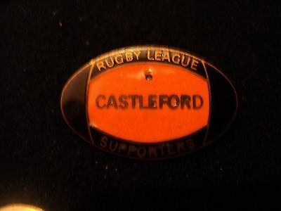 Rare Vintage Castleford Rugby League Supporters Badge Pre Castleford Tigers