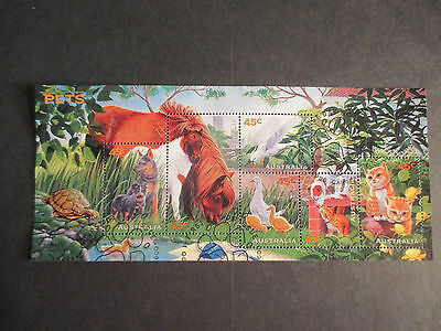 2--- 1996  -PETS  MINI SHEET  CANCELLED  Ist  DAY  ISSUE  NO    GUM  TOPS  A1