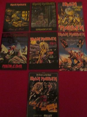 Lot Of 7 Iron Maiden Promotional Postcards