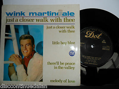 """Wink Martindale.just A Closer Walk With Thee.dot 4 Track  Ep.7"""" Vinyl.45Rpm"""