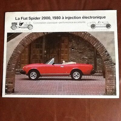 Fiat  124 Spider original  electronic injection brosure  in French