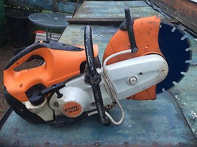 stihl ts410 disc cutter Saw With New Diamond Blade