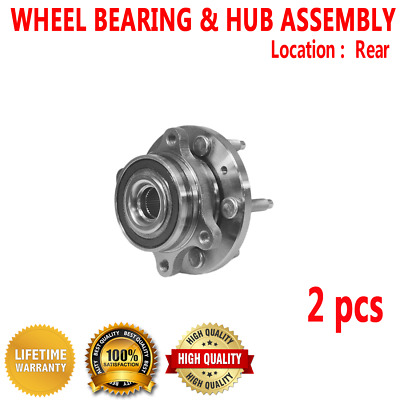 2pcs REAR Wheel Hub Bearing Assembly for LINCOLN MKS 09-14 MKT 10-14 MKX 11-14