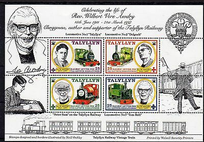 Railway Letter Stamps Talyllyn 1998 Anniversary M/S