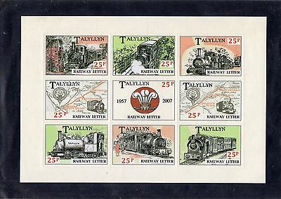 Railway Letter Stamps Talyllyn Anniversary M/S