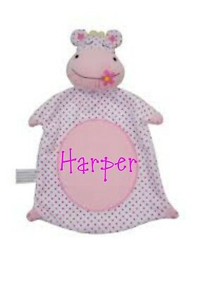 personalsied Pitter Patter Baby boys Hippo Teddy Comforter
