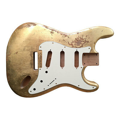 Body guitar CUSTOM ORDER Fender Stratocaster style RELIC GOLD LEAF SILVER aged