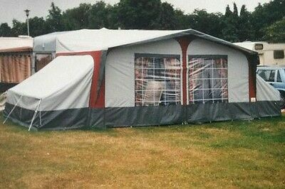 caravan awning 800 to 820 red with 2 annex