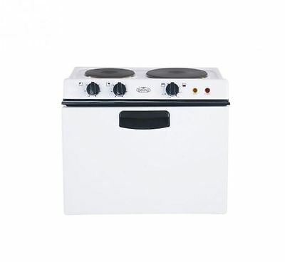 Belling 121R Baby Belling Table Top Electric Oven With Solid Plate In White NEW