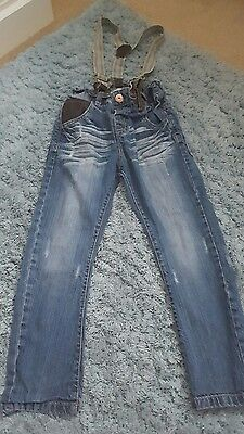 boys next jeans with braces age 3-4 years