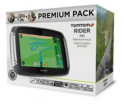 Tomtom /tom Tom Rider 410 World Premium Pack Bike Navigation Lifetime Maps 4,3""