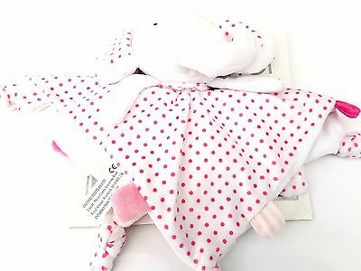 personalsied Pitter Patter pink/blue spotty elephant  Comforter PINK