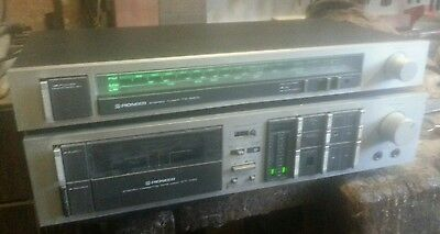 Pioneer Stereo Tuner Tx 540 L  + Pioneer Stereo Cassette Ct-740