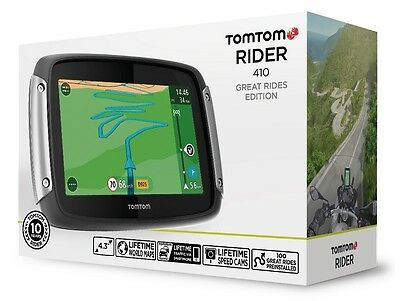 Tomtom /tom Tom Rider 410 World Great Rider Bike Navigation Lifetime Maps 4,3""
