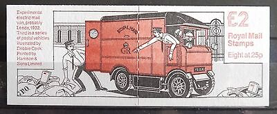 Postal Vehicles series Booklet Design No 3 - Experimental Electric Mail Van MNH