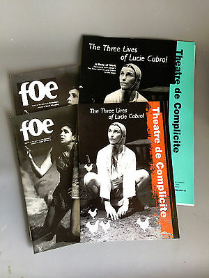 Theatre de Complicite Press packs & Programmes Foe & Three Lives Lucie Cabrol